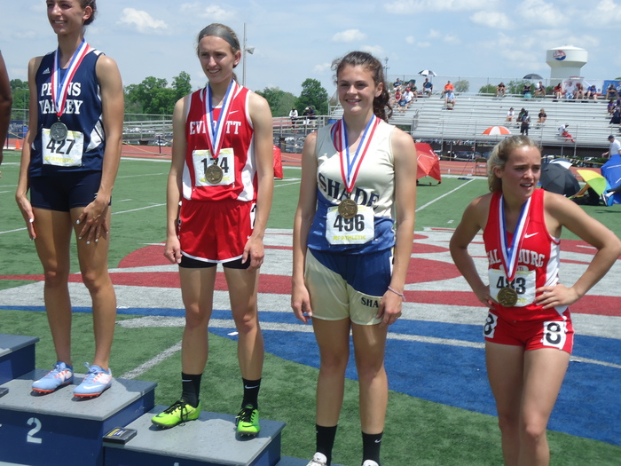 Kaitlyn Maxwell placing at the PIAA track meet