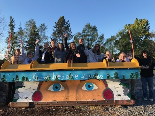 Students from Mrs. Grassi's art club recently painted the plow!